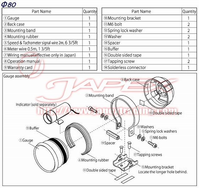 Defi Link Meter Advance Bf Tachometer Gauge White Face 80mm Df10901 Ebay